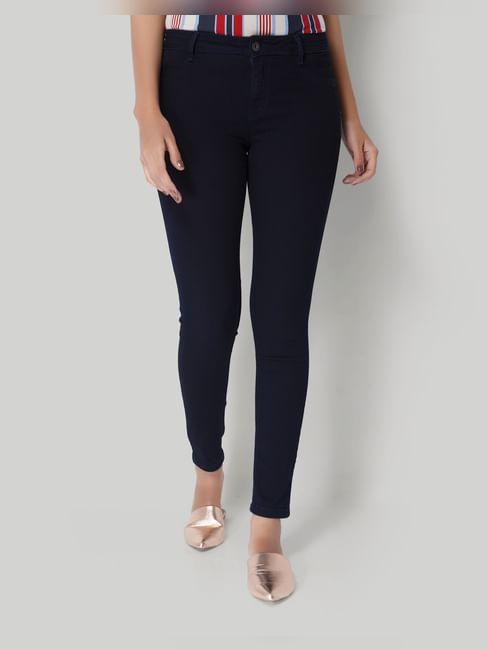 Dark Blue Low Rise Skinny Jeans