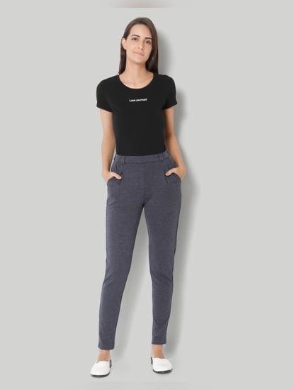 Blue Mid Slim Fit Pants