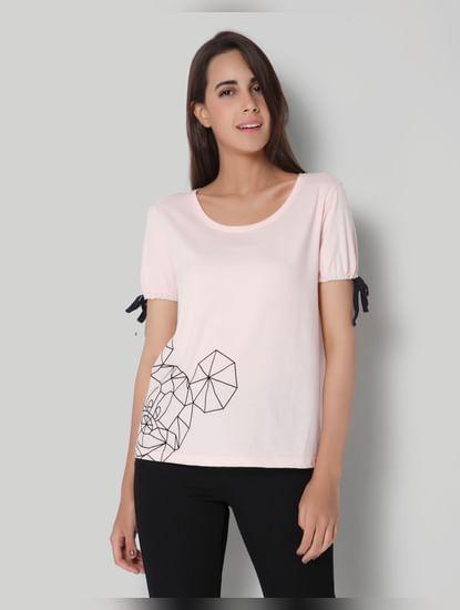 Mickey Pink Origami Print T-Shirt