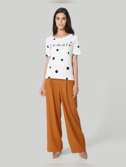 White Polka Dotted T-Shirt
