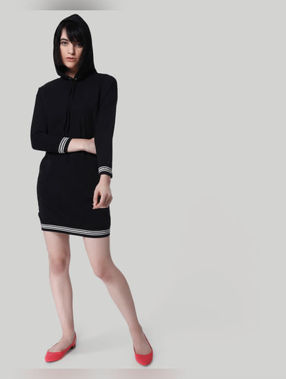 Black Hoodie Shift Dress