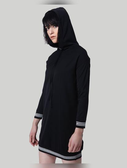 Black Hoodie Shift Dress