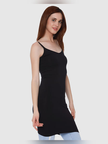 Black Bodycon Long Singlet