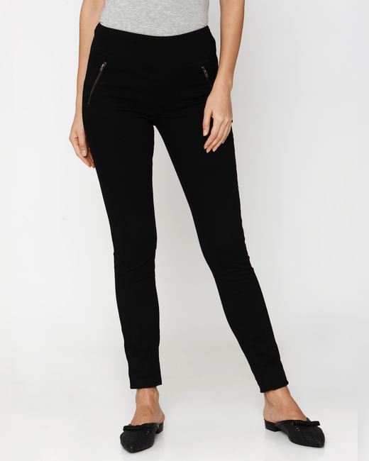Black High Rise Skinny Fit Jeans