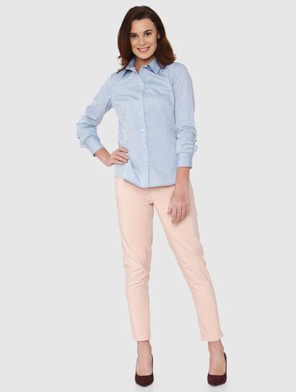 Light Blue Striped Formal Shirt