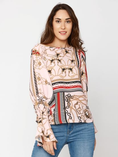 Rose Printed Top