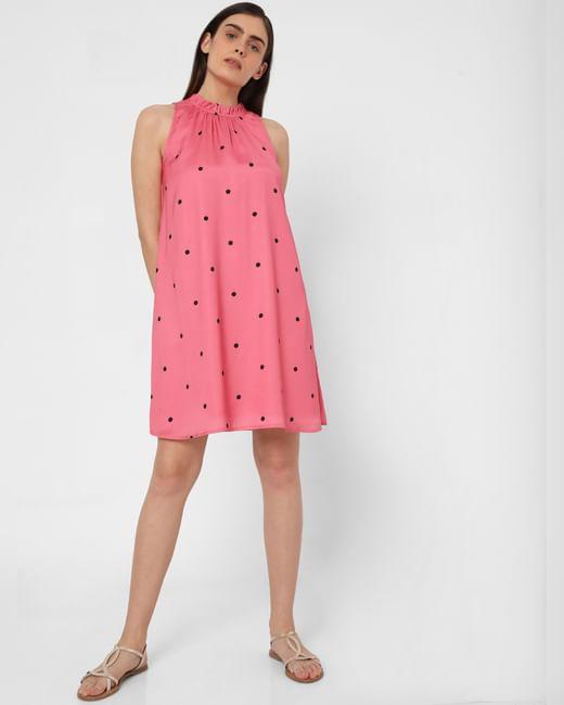 Pink Polka Dot Shift Dress