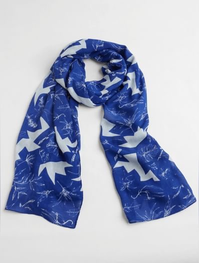 Blue All Over Print Print Scarf