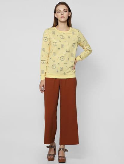 Yellow Reset Graphic Print Sweatshirt