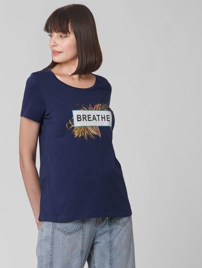Blue Graphic Print T-shirt
