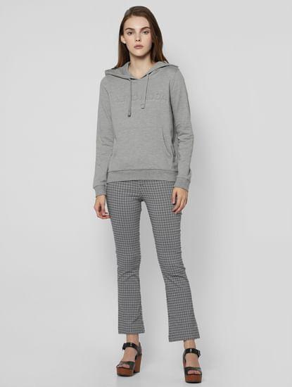 Grey Logo Print Sweatshirt