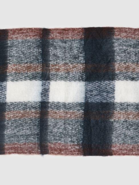 Multi-Coloured Check Scarf