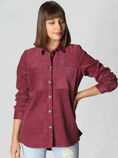 Dark Pink Oversized Shirt