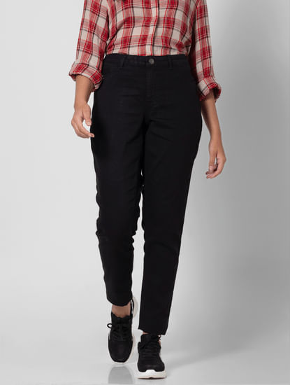 Black High Rise Slim Fit Jeans