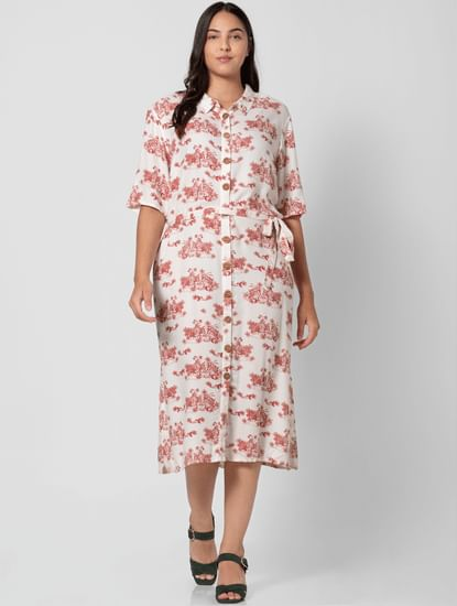 Off-white All Over Print Shirt Dress