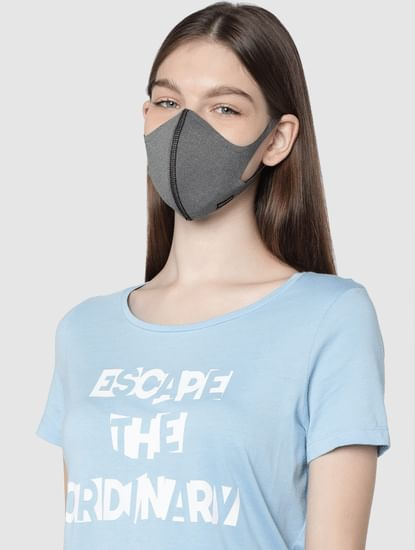 Grey 2PLY Anti-Bacterial Knit Mask with Changeable Filters