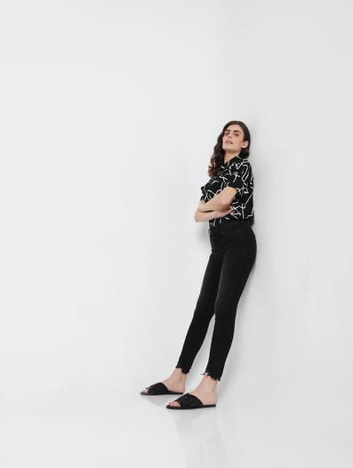 Black Mid Rise Skinny Jeans