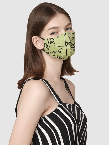 Pack of 2 3PLY All Over Print Anti-Bacterial Mask