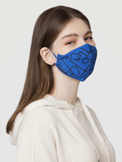 Pack of 2 3PLY All Over Print Knit Anti-Bacterial Mask