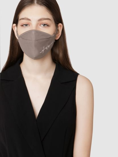 Pack of 2 3PLY Knit Anti-Bacterial Mask – Grey & White