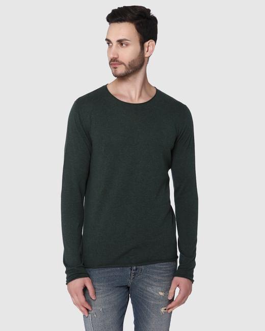 Green Crew Neck Pullover